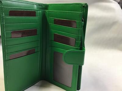 Portafoglio Donna Pelle Verde