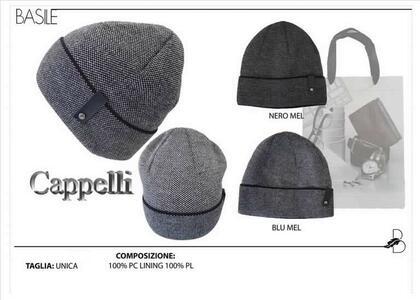CAPPELLO NERO MEL BASILE