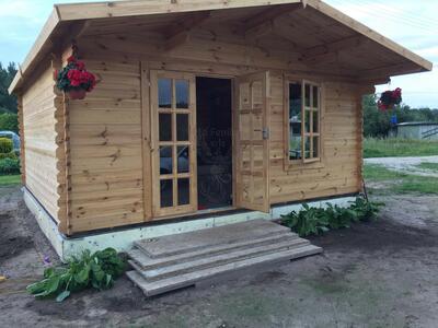 Casetta in legno 5,00 m x 5,00 m - Mod. Marina  - 44 mm