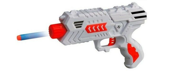 PISTOLA D-GUN SHOT CON 6 DARDI GTOYS