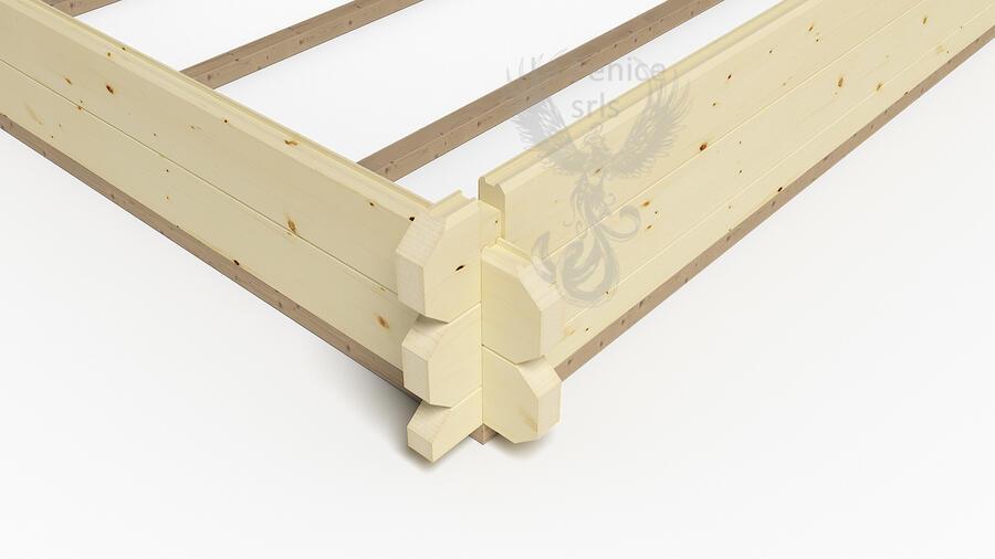 Casetta in legno 6,00 m x 4,00 m - Mod. Jessica - 44mm