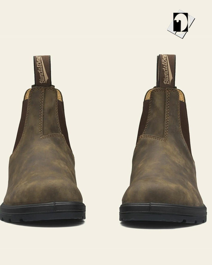 Blundstone 585 Chelsea Boots - Rustic Brown