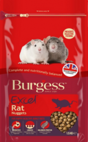 Burgess Excel Rat -  Mangime per Ratti - 1,5 kg