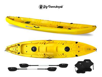 Canoa FAMILY Big Mama Kayak - 2 + 2 Posti 410 Cm + 2 Pagaie  + 2 Seggiolini + 2 Gavoni + 2 Portacanne (FULL PACK)