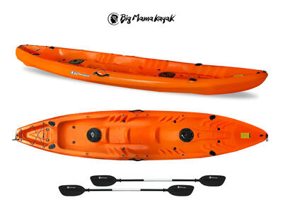 Canoa FAMILY Big Mama Kayak - 2 + 2 Posti 412 Cm + 2 Pagaie 220 Cm + 2 Gavoni + 2 Portacanne ( PACK 1)