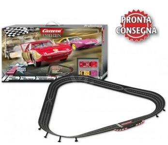 Autopista Elettrica Carrera EVOLUTION Motodrom Racer Analog Electric Scala 1:32 Slot Car Racing Track Set