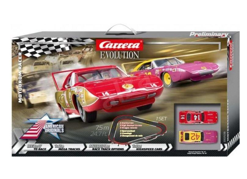 Autopista Elettrica Carrera EVOLUTION Motodrom Racer Analog Electric Scala 1:32 Slot Car Racing Track Set