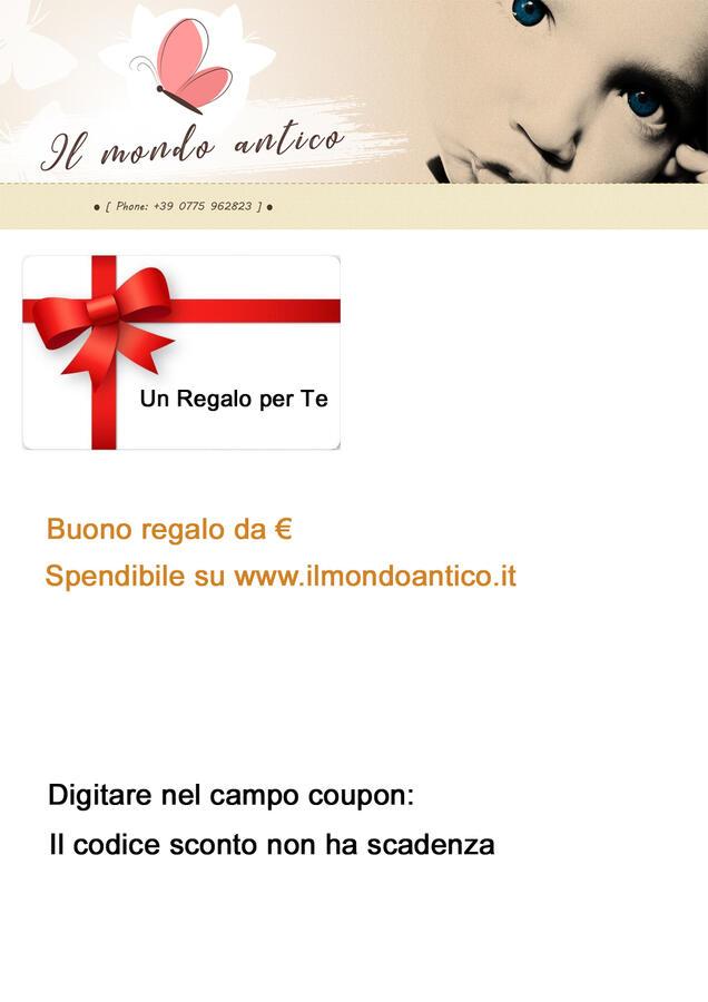 Gift Card Buono Regalo da € 20,00 a € 200,00