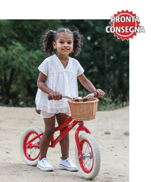 Bicicletta da Equilibrio Rossa per Bambini della Linea Baghera