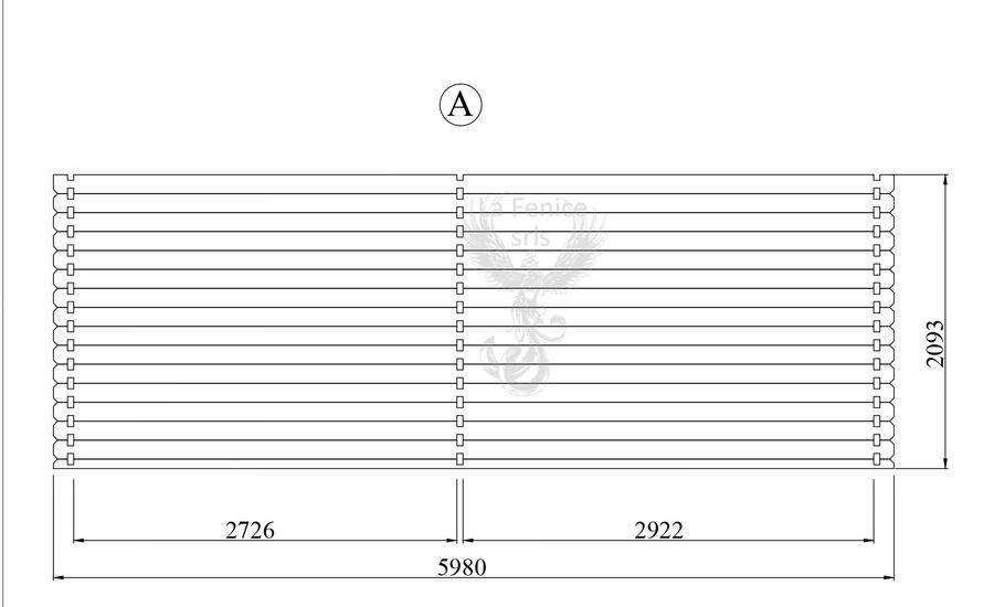 Casetta in legno 11,00 m x 5,90 m - Mod. Auronzo - 44 mm