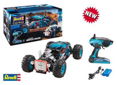 Hot Rod Muscle Racer R/C Blu-nero Scala 1:12 Elettrica Truggy RtR 2,4 GHz di Revell