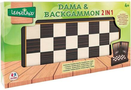 DAMA & BACKGAMMON 2 IN 1 LEGNOLAND GLOBO