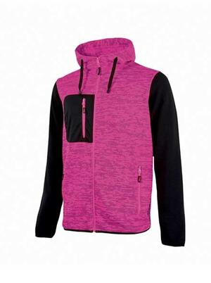 Felpa Rainbow Black Fucsia  U power Taglie S-L