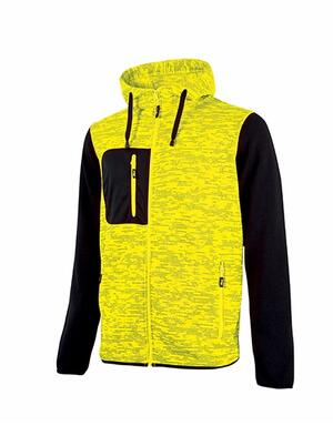 Felpa Rainbow Yellow Fluo  U power Taglie S-XXL