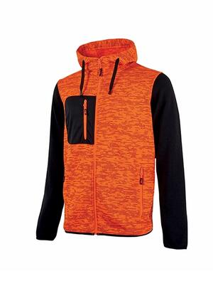 Felpa Rainbow Orange Fluo U power Taglie S-XXL