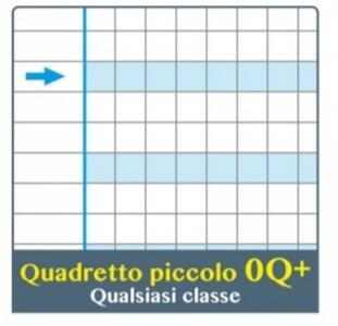 QUADERNO ONE COLOR DIDATTICO A4 RIGATURA 0Q+ PER DISGRAFIA - quadro 5 millimeti