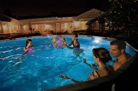 Luce led lampada sera faro magnetica parete piscina fuori terra