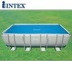 Telo copertura solare termico RISCALDANTE piscina rettangolare 732 x 366 cm Intex 29027