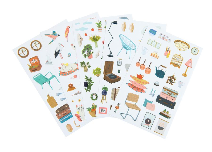 Quaderno da colorare con stickers