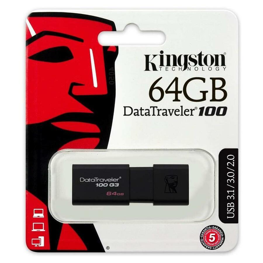CHIAVETTA USB 64 GB DATATRAVELER 100 G3 KINGSTON