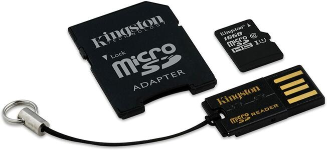 MBLY10G2/16GB MICRO SDHC CLASSE 10 MICRO - SD READER KINGSTON