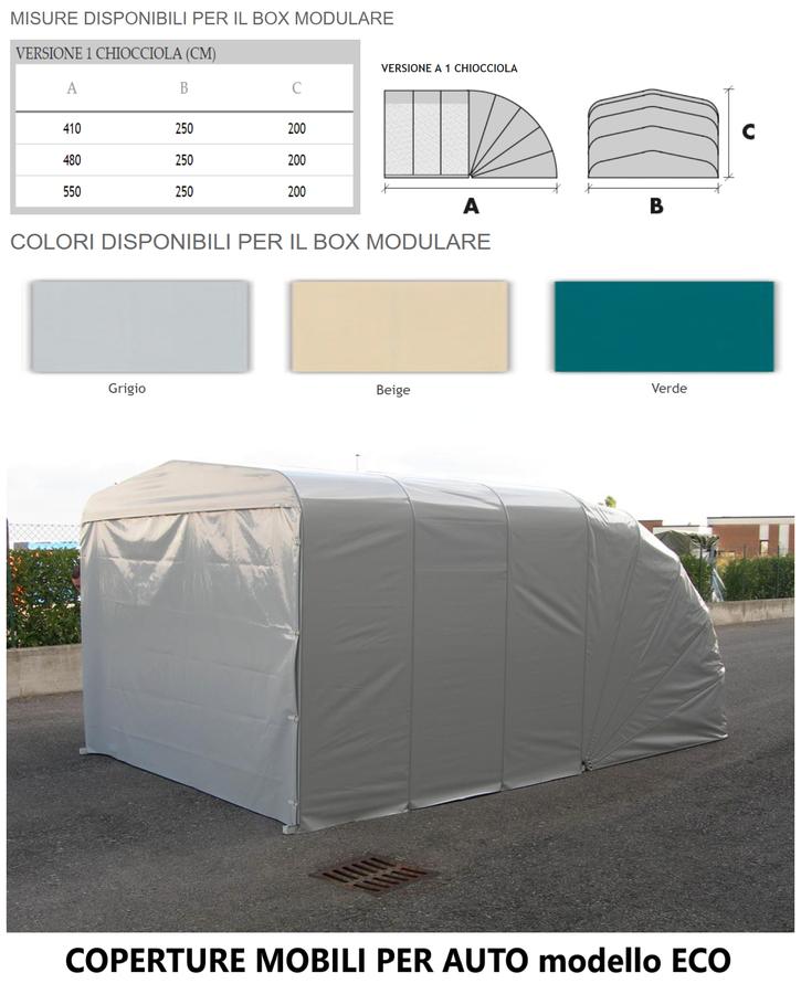 Box modulare ECO 1 CHIOCCIOLA 550x250x200