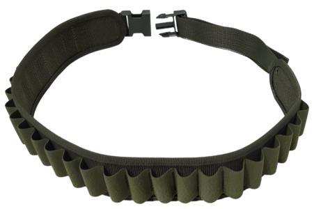 Cartuccera elastica 25 celle verde, disponibile nei calibri 12 e 20