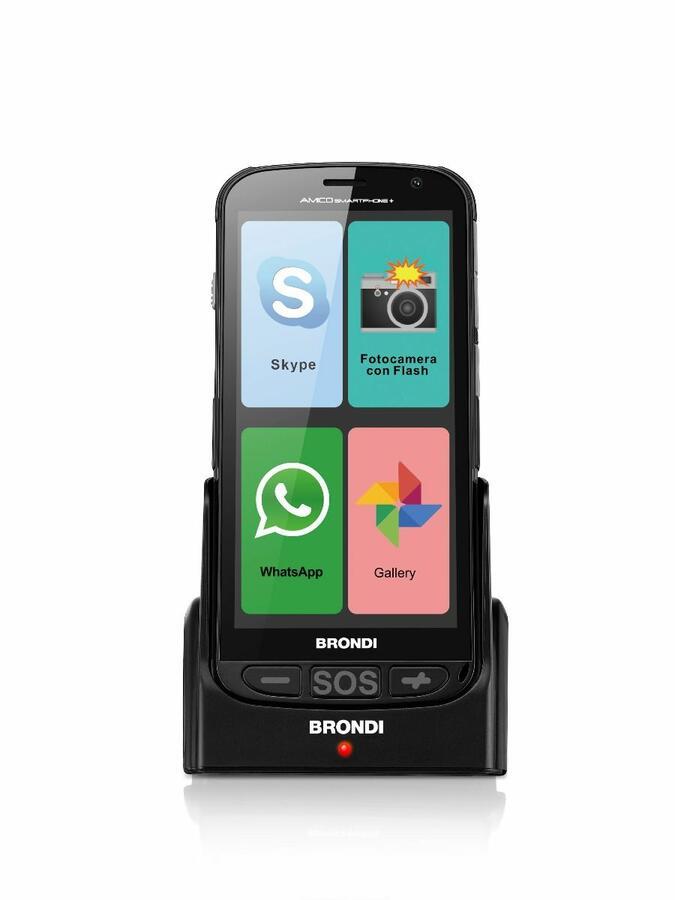 BRONDI CELLULARE AMICO SMARTPHONE + PLUS NERO