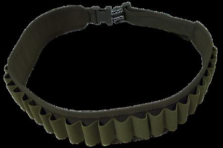 Cartuccera elastica 30 celle verde, disponibile nei calibri 12 e 20