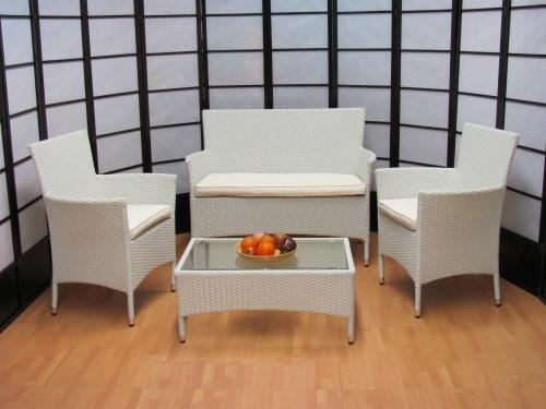 Salotto Polirattan Bianco.Salotto 4 Pezzi Da Giardino Per Esterno Textilene Alluminio Alessia Temptation Bianco