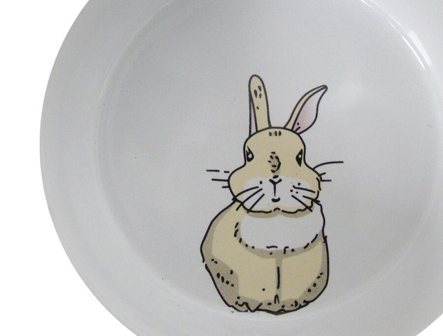 """Nobby Ciotola - Rodent Ceramic bowl """"Rabbit""""  - Giallo - 300 ml."""
