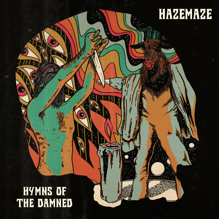 HAZEMAZE -  HYMNS OF THE DAMNED   LP (FuneralBlack Limited Edition)