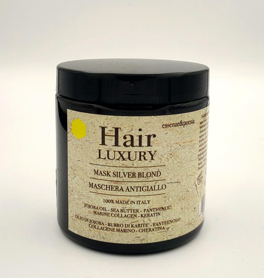 HAIR LUXURY MASCHERA ANTIGIALLO SILVER BLOND 250 ML