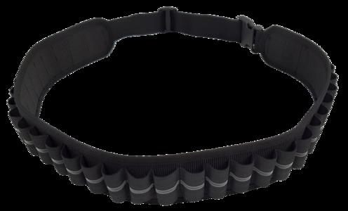 Cartuccera elastica 30 celle nera, disponibile nei calibri 12 e 20