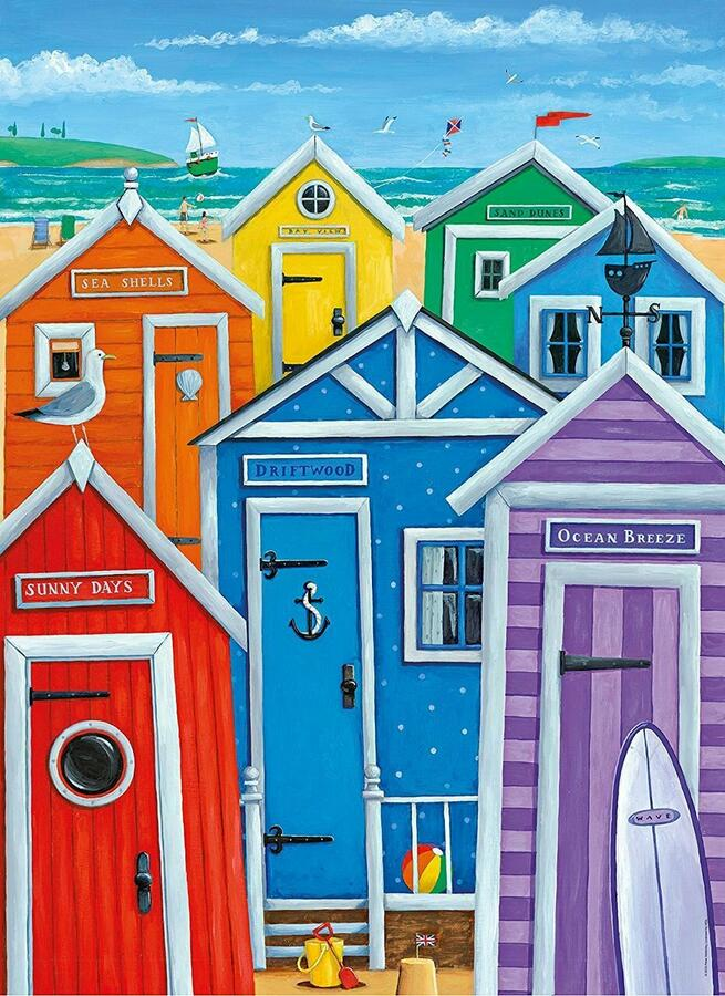 Puzzle Rainbow Beach Huts  1000 pz - Clementoni 39327 - 7+ anni