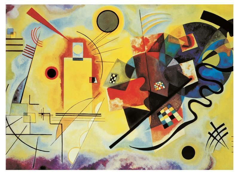 Puzzle Kandisky - Giallo Rosso e Blu 1000pz - Clementoni 39195 - 7+ anni