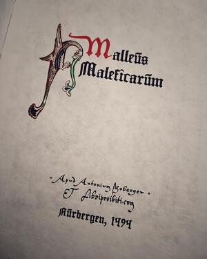 MALLEUS MALEFICARUM – replica edizione incunabolo del 1494. Il martello delle streghe