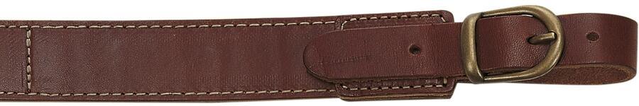 Bretella per fucile tutta in cuoio ingrassato mm.30 colore marrone con antiscivolo