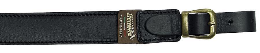 Bretella per fucile tutta in cuoio ingrassato mm.30 colore nero