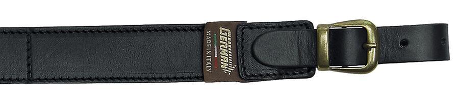 Bretella per fucile tutta in cuoio ingrassato mm.30 colore nero con antiscivolo