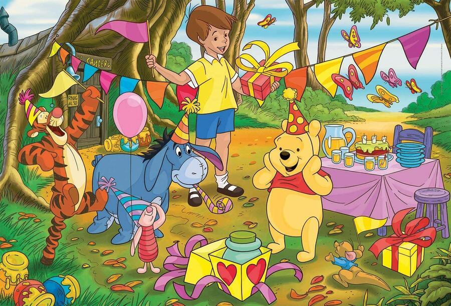 Puzzle Winne the Pooh Supercolor Maxi 24 pz - Clementoni 24201 - 3+ anni