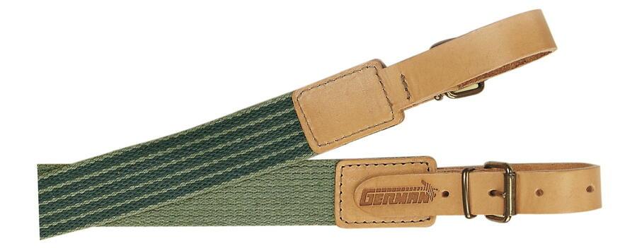Bretella per fucile in tessuto colore verde militare mm.30 con antiscivolo