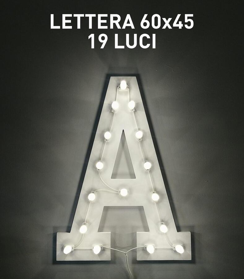 LETTERA 60x45 18 LUCI - LUMINARIA SALENTINA D'ARREDO