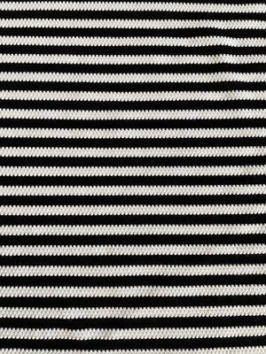 Cotone BIOLOGICO righe bianche e nere