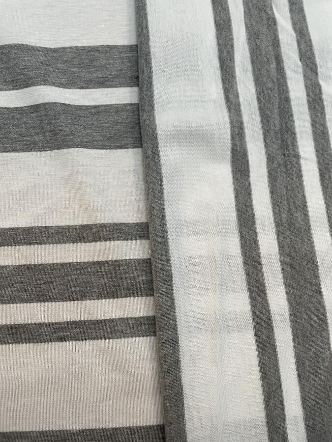 Maglina Jersey a righe grigie e bianche
