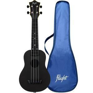 Flight: TUS35E Travel Electro Ukulele - Black (ELETTRIFICATO)