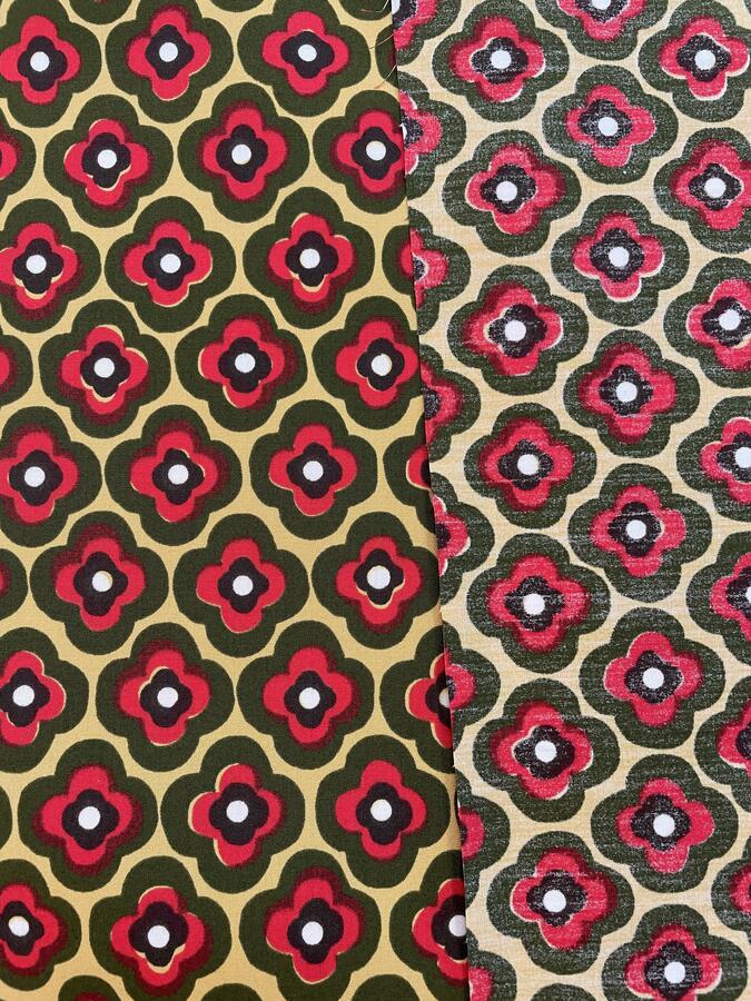 Gabardine di cotone - fiori geometrici