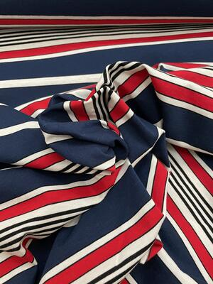 Maglina Jersey a righe blu, bianche e rosse