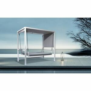 Dondolo in alluminio verniciato  bianco ERACLEA MARE 234 x 130 x h 195 codice SV 119