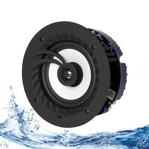 """Lithe Audio 6.5"""" Bluetooth 5 IP44 Rated Bathroom Ceiling Speaker"""